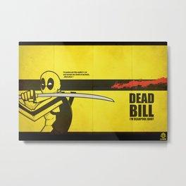 Tribute To Deadpool Metal Print