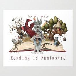 Reading is Fantastic Art Print