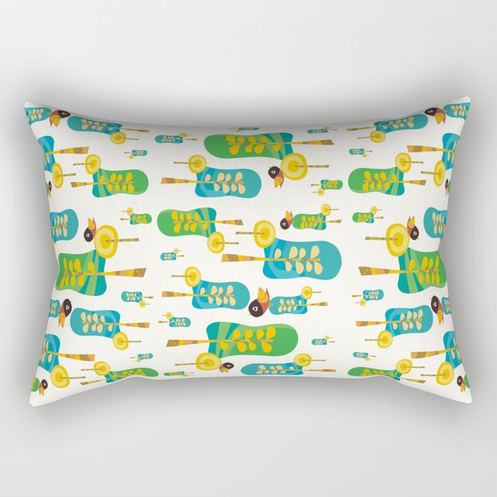 TWITTERING IN THE TREES  Rectangular Pillow