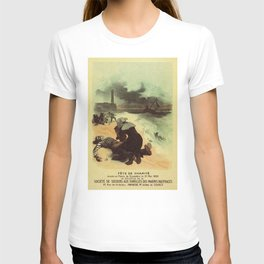 Vintage French drowned sailors charity advertising T-shirt