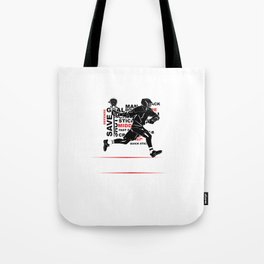 Cool Lacrosse Player Outdoors Sports Team Typography Tote Bag