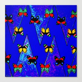 Bright Butterfly Pattern Print Canvas Print