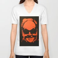 jack nicholson V-neck T-shirts featuring Jack by Ty McKie Creations