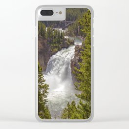 Upper Yellowstone Falls Wyoming United States Ultra HD Clear iPhone Case