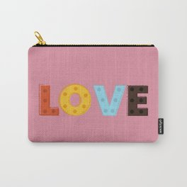 happy LOVE - typography Carry-All Pouch