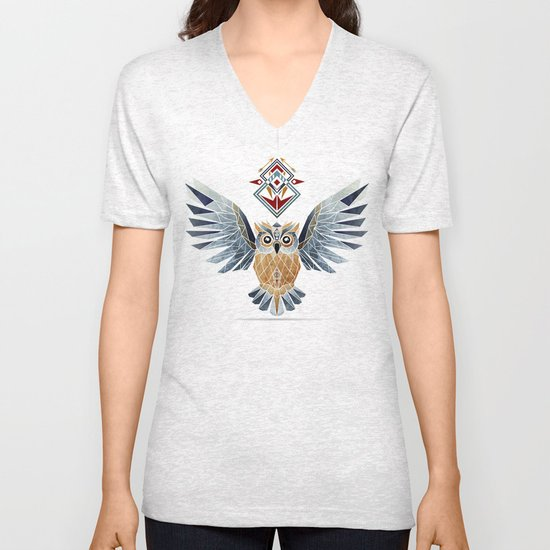 owl winter Unisex V-Neck