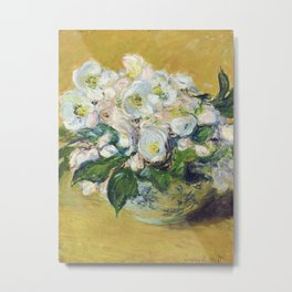 Claude Monet - Christmas Roses Metal Print