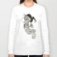 steam punk Long Sleeve T-shirts featuring Steam Punk Horse  by FlyingFrogIllustration