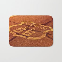 Historic route 66 in the Mojave desert. Bath Mat