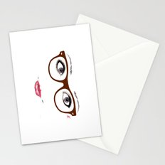 Hipster Eyes 1 Stationery Cards