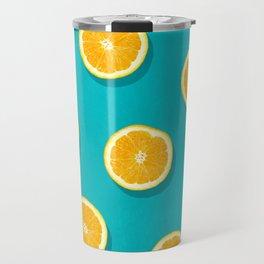 Oranges - Fruit Pattern Travel Mug