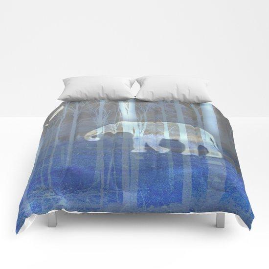 Moonlight with elephant Comforters