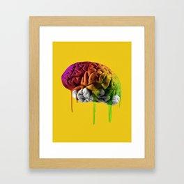 Psychedelic Brain Framed Art Print