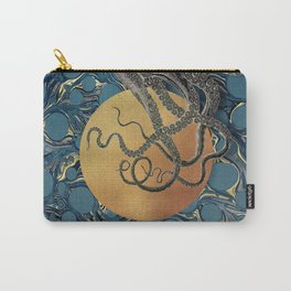 Gold Marble Octopus Carry-All Pouch