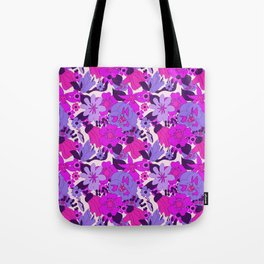 Retro New Zealand Floral Pattern Tote Bag