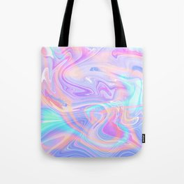 Iridescent Marble Texture Tote Bag
