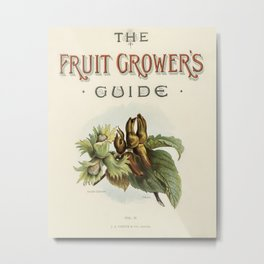 Vintage illustrations of fruits The Fruit Grower's Guide (1891) by John Wright. Metal Print