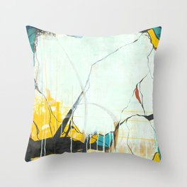 October - Square Abstarct Expressionism Throw Pillow