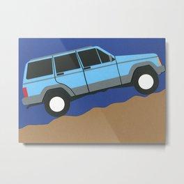 Blue SUV Metal Print