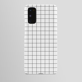 Black and White Thin Grid Graph Android Case