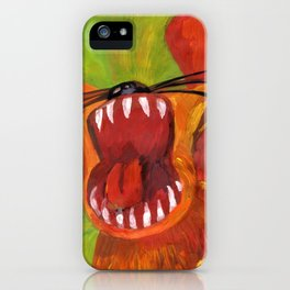 Angry angry tiger :) iPhone Case