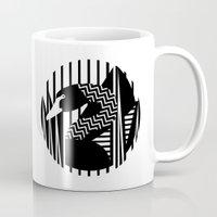 black swan Mugs featuring black swan by Gray