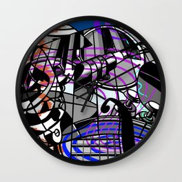 Jam Session (Cacophony) Wall Clock