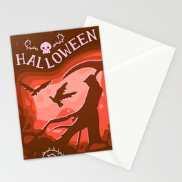 Halloween Creatures Stationery Cards