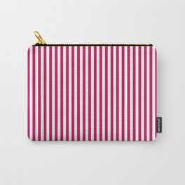 Red- crimson striped 1 Carry-All Pouch