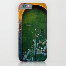 Magic Green Door in Sicily iPhone Case