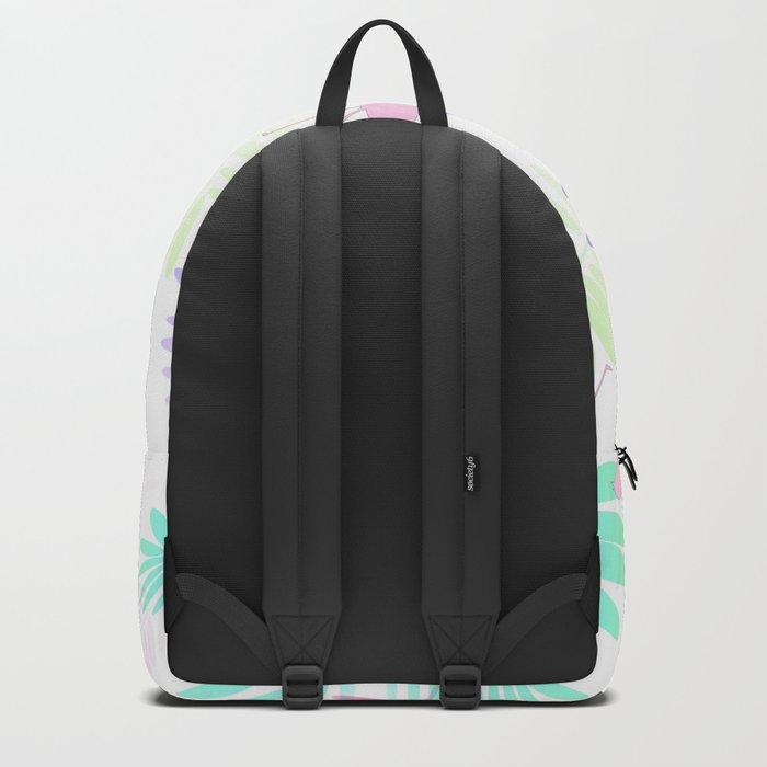 Tropical Pink Flamingos Backpack