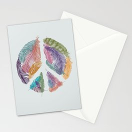 Feathers for Peace (Peace Sign) Stationery Cards