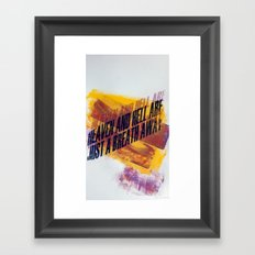 HEAVEN & HELL5 Framed Art Print