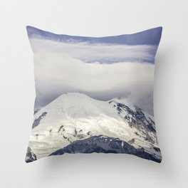 Mountain Top of Mt Rainier Throw Pillow