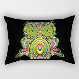 Owl Psychedelic Art Design Rectangular Pillow