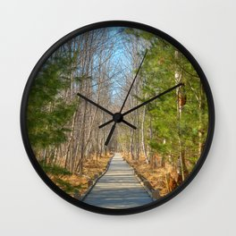 Jesup Boardwalk Trail Wall Clock