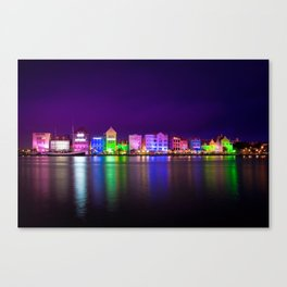 Willemstad, Curaçao (Curacao) at Night Canvas Print
