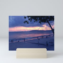 Sunset in Krabi Ao Nang Beach Mini Art Print