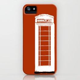 Red telephone box kiosk - england iPhone Case