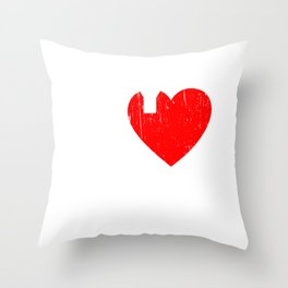 """My Heart Belongs To A Pilot"" T-shirt Design For A Proud Wife To Her Airplane Pilot Husband Sky Throw Pillow"