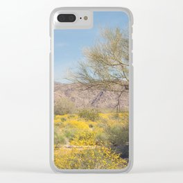 Joshua Tree Wildflowers Clear iPhone Case