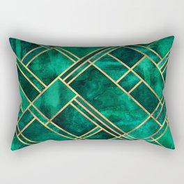 Emerald Blocks Rectangular Pillow