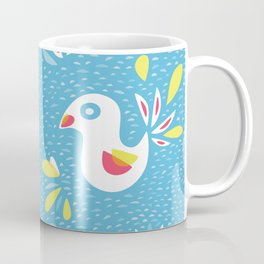 Abstract Bird In Spring Coffee Mug