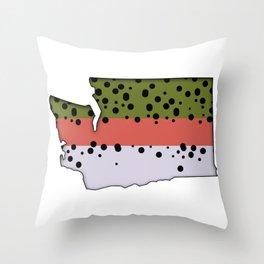 Washington Rainbow Trout Throw Pillow