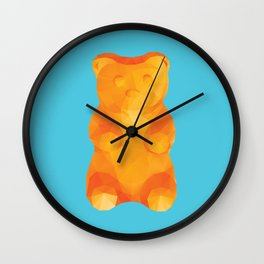 Gummy Bear Polygon Art Wall Clock