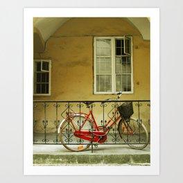 Red Bicycle Art Print