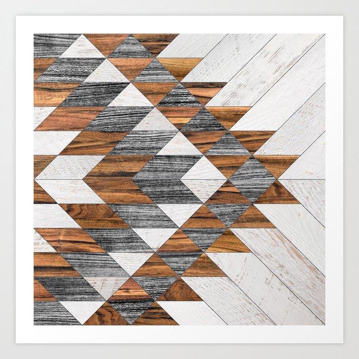 Urban Tribal Pattern 12 Aztec Wood Art Print By