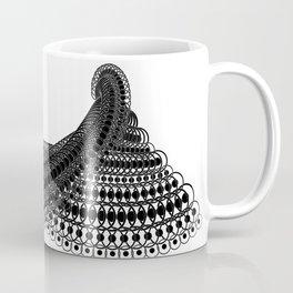 Geometric Lace in Black on White Coffee Mug