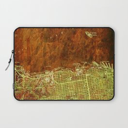 San Francisco North, California vintage map, year 1947,usa old maps Laptop Sleeve