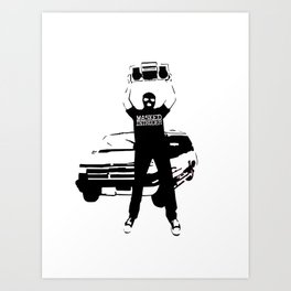 Masked Intruder Say Anything Boombox Art Print